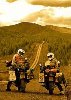 long way round, ..boorman and mcgregor...Siberia, via Flickr.