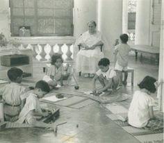 Dr. Montessori at a school in India