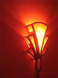 Theater homage, Art Deco light, Fox Tucson theater, Tucson, Arizona by David Lee Guss, via Flickr
