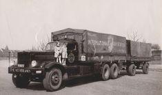 "Diamond T ""Schols Ambij - Maastricht"" Vintage Iron, Vintage Trucks, Classic Trucks, Big Trucks, Old Cars, Volvo, Cars And Motorcycles, Trailers, Diamond"