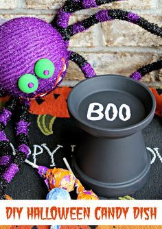 Easy DIY Halloween Candy Dish - Views From the Ville