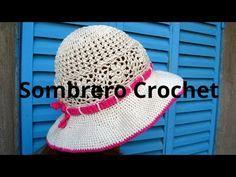 SOMBRERO playero en tejido  crochet o ganchillo tutorial paso a paso. Moda  a Crochet 5e894728331