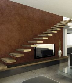 Decorating With Faux Finishes Decorative Plaster, Stairways, It Is Finished, Traditional, Contemporary, Interior, House, Painting, Decorating