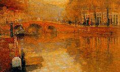 Henri Cassiers - Soir à Amsterdam