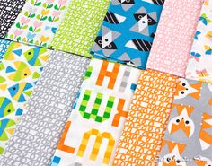 Playful prints in the new Picture Pie fabric collection by Cloud9 Fabrics