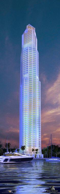Rivage Tower - Saúl Bassan - Panama City, Panama. Más sobre ciudades y futuro…
