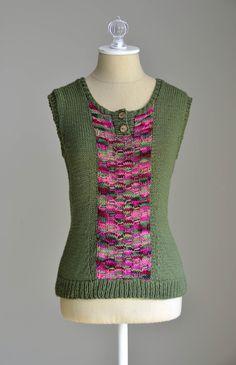 Free Knitting Pattern - Heavenly Henley in Jubilation Kettle Dye and Merino XF