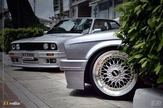 BMW E30 with BBS RS wheels. Perfect