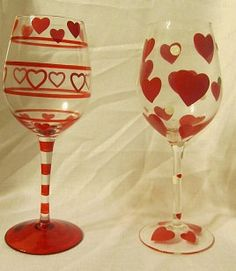 301 Best Wine Glasses Images Painted Wine Glasses Painting On