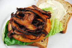 Checkout this amazing Portobello Vegan BLT Recipe at LaaLoosh.com. Just 5 Points + for a meat free sandwich that is mouthwateringly delicious.