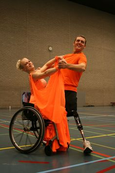 Some Paralympic dance inspiration. I could show this to clients to spark some interest in adaptive dance.