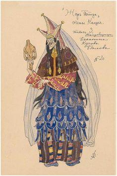 Alexander Golovin's Costume designs for 'The Firebird' (1910)