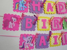 Welcome to Swati Creations! This banner is perfect for your My Little Pony birthday party! Banner Options Available (select when you add an item to your cart): - Happy Birthday - Happy (age) Birthday - Name Banner- Name ONLY banner (upto 8 characters) - Name and Age Banner - Example - My Little Pony Birthday Party, Birthday Name, Baby Girl Birthday, Happy Birthday Banners, Birthday Decorations, Birthday Parties, 8th Birthday, Birthday Ideas, Cumple My Little Pony