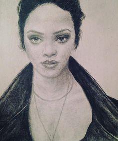 Rihanna by TransilvaniaArt on Etsy