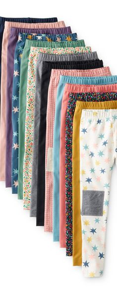 Leggings in every color and pattern imaginable! Quality kids leggings at @hanna