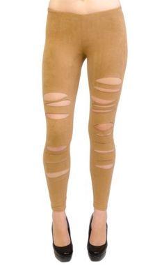 Vivian's Fashions Long Leggings - Laser Cut, Suede Vivian's Fashions. $25.99
