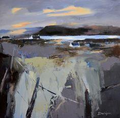 Light on the Loch, Mull Landscape Artwork, Abstract Landscape Painting, Abstract Watercolor, Abstract Art, Paintings I Love, Seascape Paintings, Contemporary Paintings, Painting Inspiration, Fine Art