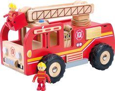 Jouet en bois-Camion de pompier