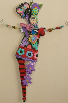 Peace In My Garden  WALL DANCERS Are Back Feel Good Art by kerijoy - Created by Keri joy Colestock