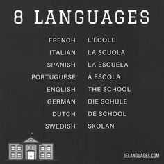 "How to say ""the school"" in 8 languages"