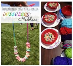 Family reunion ideas, kids crafts for a large group, LOW COST party ideas for church camp or summer picnics, popular and fun craft ideas for kids