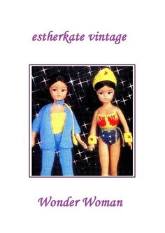 VINTAGE knitting pattern pdf Sindy doll by EstherKateVintage