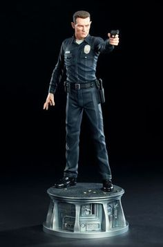 T-1000 Terminator Robert Patrick Polystone Statue from Terminator 2: Judgment Day. It is made by Sideshow Collectibles and is approximately 45 cm (17.7 in) high  http://terminator.minimodelfilmstuff.co.uk/terminator-collectable/terminator-2-t-1000-terminator-robert-patrick-polystone-statue-sideshow-collectibles-200184 From the sci-fi classic 'Terminator 2: Judgement Day', the T-1000 Statue is a stunning representation of the Skynet assassin. Each piece is individually painted a...