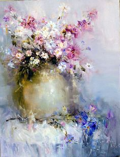 """Photo from album """"Анжелика Привалихина (Angelica Privalihin)"""" on Yandex. Abstract Flowers, Watercolor Flowers, Watercolor Paintings, Watercolors, Arte Floral, Pictures To Paint, Beautiful Paintings, Oeuvre D'art, Painting Inspiration"""