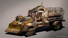 Death race, post apocalyptic art, garage art, post apocalyptique, toyota ca Concept Art World, Concept Cars, Mad Max Trailer, Slum Village, Mad Max Road, Post Apocalyptic Art, Death Race, Garage Art, Slums