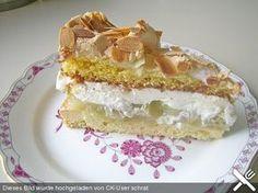 Stachelbeer - Sahne - Baiser - Torte