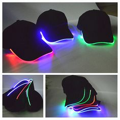 LED Lighted up Hat Glow Club Party Baseball Hip-Hop Golf Adjustable Sports  Cap 380a244bbabe