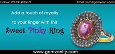 Add A Touch Of Royalty To Your Finger With This Sweet Pinky Ring