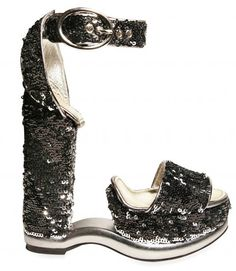 Dolce Gabbana Sequined Sandals - how the hell do you put these on???