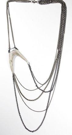 chains & antler neck piece