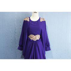 Chiffon Kaftan Maternity Dress Purple Afantee Caftan Maxi Dress with... (68 BAM) via Polyvore featuring maxi kaftan, plus size kaftan, purple kaftan, chiffon kaftan and plus size caftan