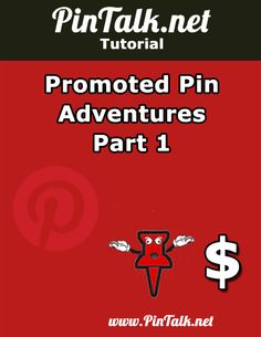 "Promoted Pin Adventures – Part 1. For the next month or until I exhaust the budget, I am managing my first Pinterest Promoted Pins campaign on behalf of a client. Pinterest's new paid ad platform is called ""Promoted Pins"". When Promoted Pins were introduced last March, the ad platform was only open to companies with multi-million dollar ad budgets. In December 2014, Pinterest rolled out the paid ads platform to everyone."