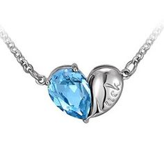 Australia Imported Crystal Luck Heart Pendant Necklace. Price:$15.99 & FREE Shipping