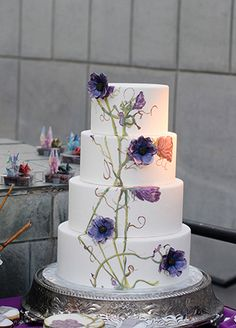 7 Painted Wedding Cakes We Love Right Now