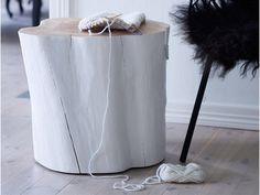 Ta in naturen och gör bord av stubbar! ‹ Dansk inredning och design