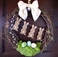 Easter Bunny DIY  wreath, home decor