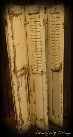 Old weathered shutters, make great accents