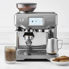 The next generation of fully automatic espresso makers has arrived with the Breville Oracle Touch. This award-winning espresso machine makes it amazingly easy to prepare true café-quality coffee beverages at home. Tricky brew tasks are automa… Cappuccino Maker, Cappuccino Machine, Espresso Maker, Coffee Maker, Cappuccino Coffee, Barista Coffee Machine, Coffee Mugs, Coffee Machines, Coffee Club