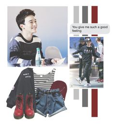 """Kim Jongdae"" by lazy-alien ❤ liked on Polyvore featuring Monki, Neff, Chicnova Fashion, Dr. Martens, EXO, exom, chen and kimjongdae"