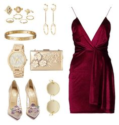 """""""I Dare You"""" by jessica-trisanti on Polyvore featuring Boohoo, Christian Louboutin, Rimen & Co., Charlotte Russe, Chloé, Cartier, Michael Kors and Dries Van Noten"""