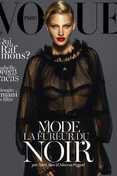 MODA PARIS: Vogue Paris, Kate Moss, Daria Werbowy, Lara Stone, influência noir...