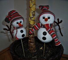 Vánoční tvoření s dětmi - Sněhuláci, milí chlápci...