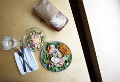 Erin Ireland's 5 Must-try New Vancouver Restaurants: The Birds and the Beats, 55 Powell Street Erin Ireland, Powell Street, Vancouver Restaurants, Hot Spots, House Made, Poached Eggs, Beets, Fresh Rolls, Salads