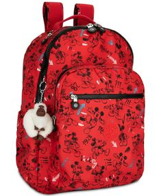Kipling Disney's Mickey Mouse Seoul Go Laptop Backpack - Red Kipling Backpack, Kipling Bags, Laptop Backpack, Backpack Bags, Fashion Backpack, Tote Bags, Mickey Mouse Backpack, Disney Mickey Mouse, Tie Dye Bags