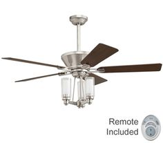 With a contemporary look and brushed nickel finish,  this fan is a wonderful addition to a living room, family room, bedroom and more.