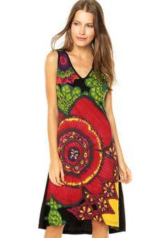 Vestido Desigual Marise Multicolorido - Marca Desigual